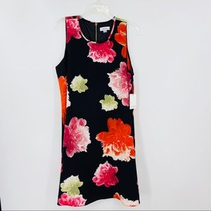 New CALVIN KLEIN A-Line Dress, Floral, Sleeveless